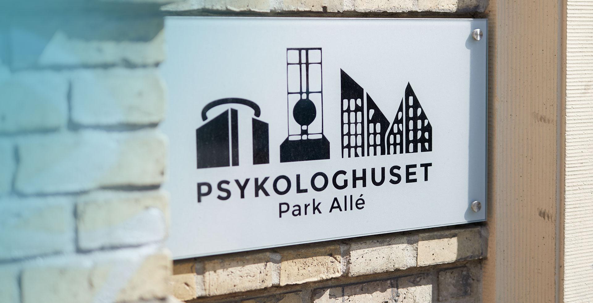 Psykologhuset Park Allé skilt